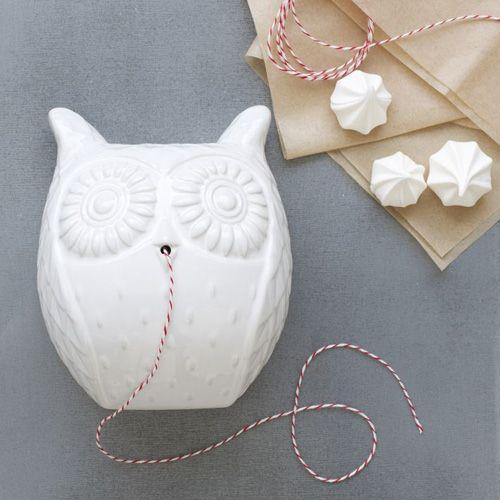 Owl String Holder #ceramic #porcelain #Owl #String #Holder