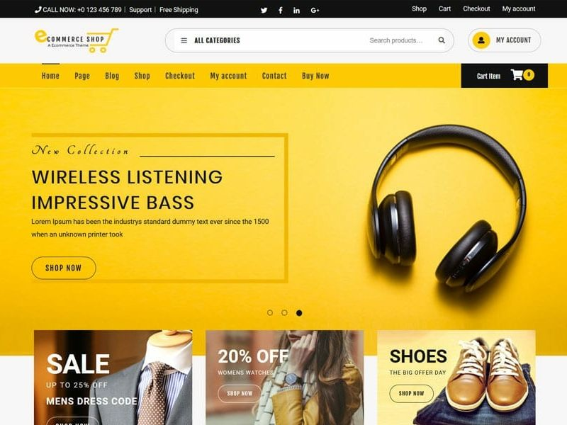 Top 110+ Best Free ECommerce WordPress Themes 2019