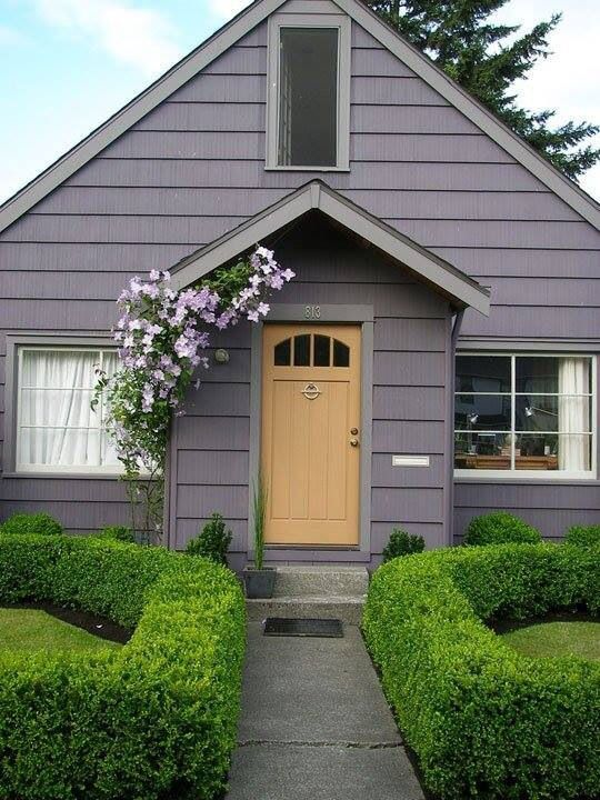Mauve And Goldenrod Exterior House Colors House Exterior House Colors