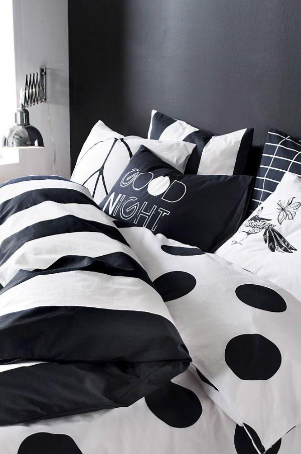 zwart wit beddengoed - Transformatiemachine | Pinterest - Zwart wit ...