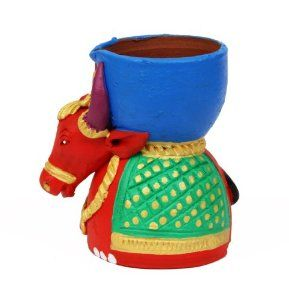 Puja Diyas for Weddings Handpainted Ox Terracotta Clay Tea light holder Home Decor