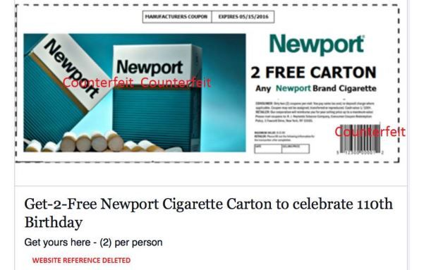 graphic relating to Printable Tobacco Coupons identify Pin upon Newport