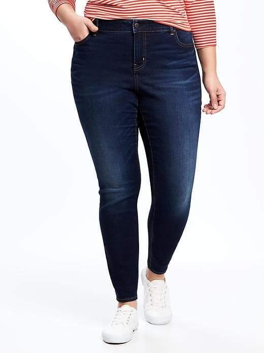 78b89c603e9 Old Navy High-Rise Secret-Slim Pockets Plus-Size Skinny Rockstar Jeans
