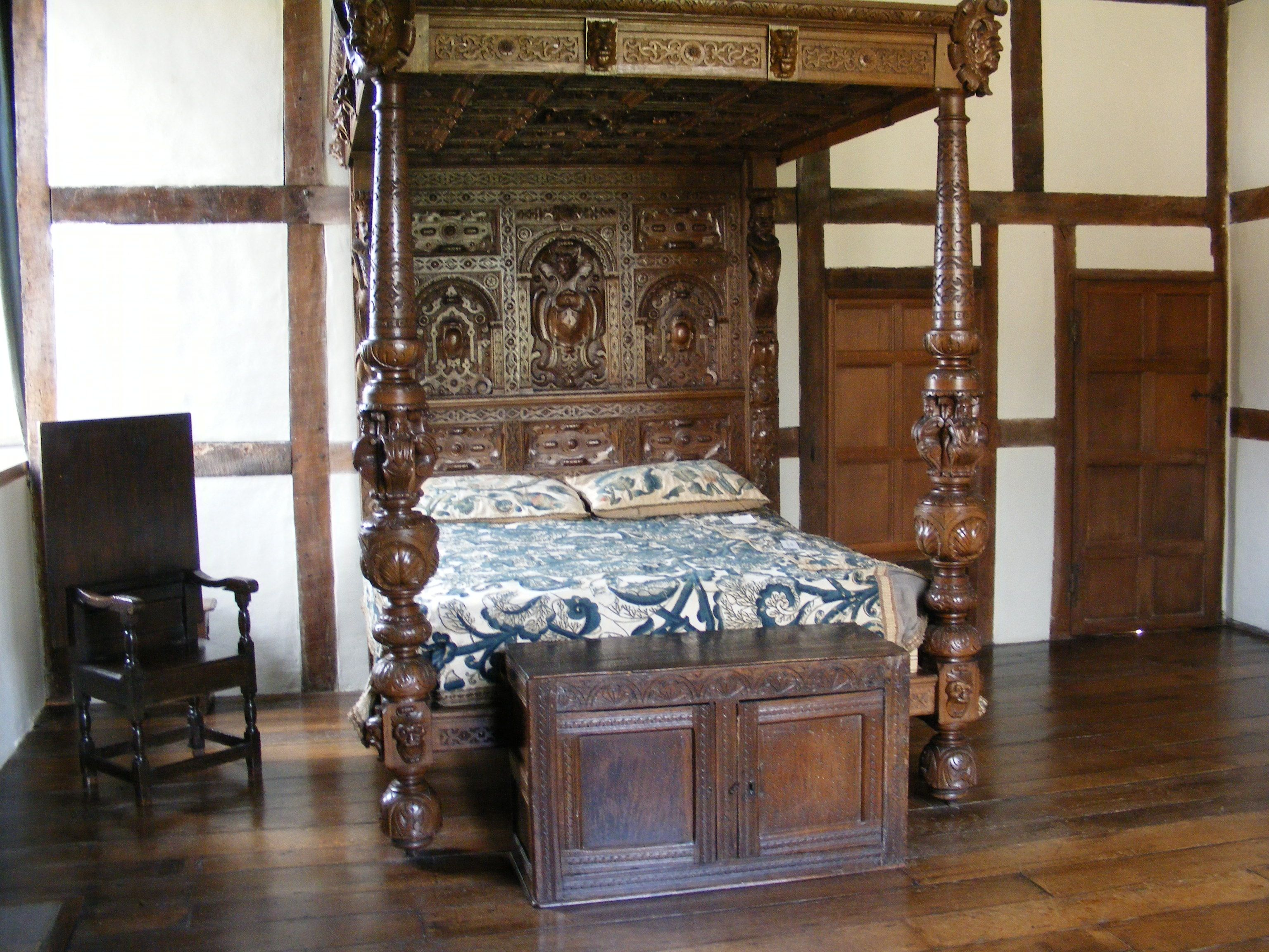 Breamore House Tudor Bedroom In Part Of The Home