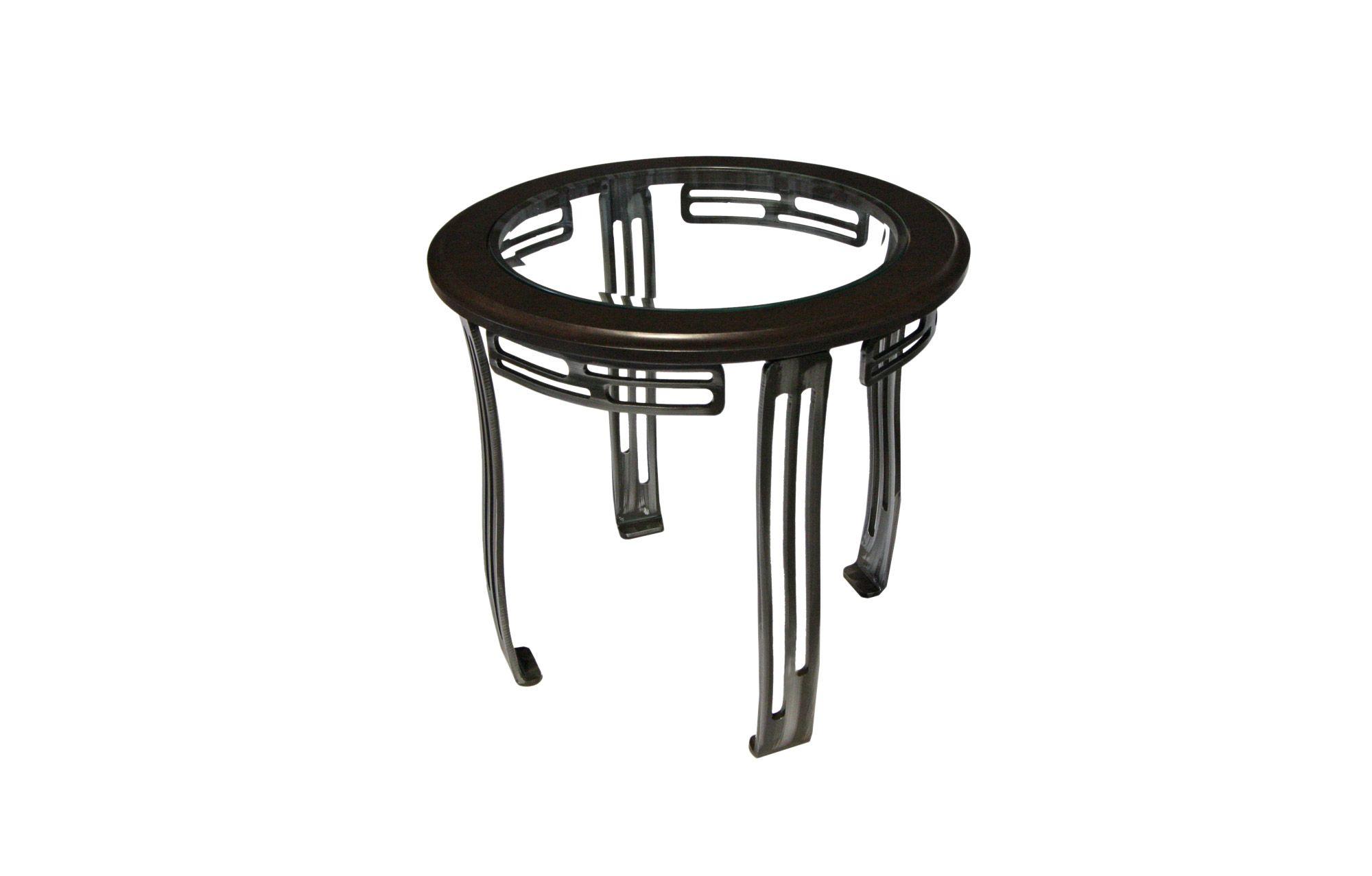 Table De Bout Table Living Room Acier Steel Meuble  # Meuble Living En Bois