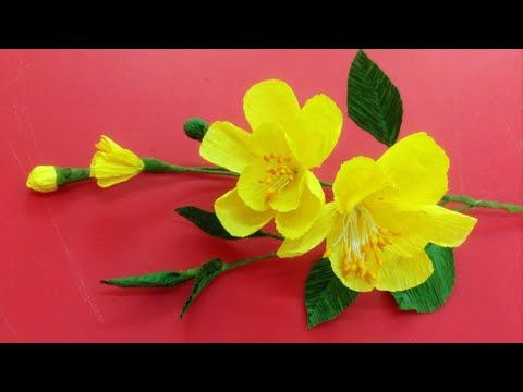 Tutorial make a crepe paper flower origami flowers folding tutorial make a crepe paper flower origami flowers folding instructions diy paper crafts youtube mightylinksfo