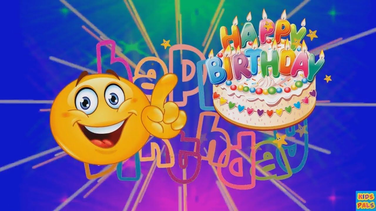 Swell Smiley Happy Birthday Song Emoji Happy Birthday Song For Kids Personalised Birthday Cards Petedlily Jamesorg