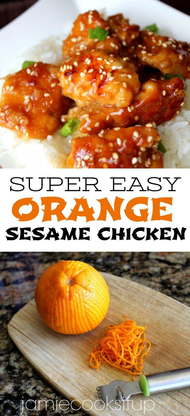 Orange Sesame Chicken #chineseorangechicken