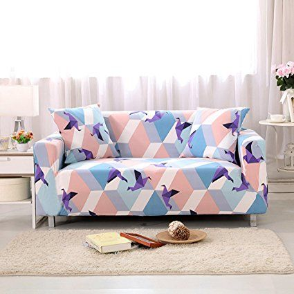 Hysenm 1 2 3 4 Seater Sofa Cover Home Decor Stretch Elastic Protector Washable Durable Dust Proof Soft Sofa S Sofa Covers Slipcovers Slipcovered Sofa