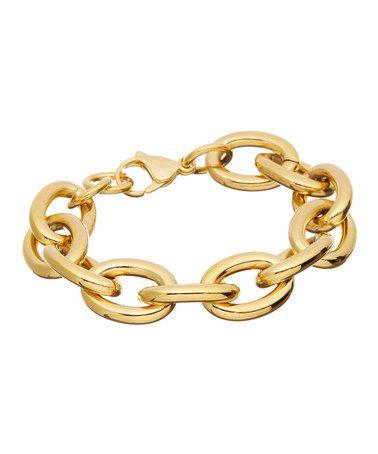 Love this Gold 'O' Link Bracelet on #zulily! #zulilyfinds