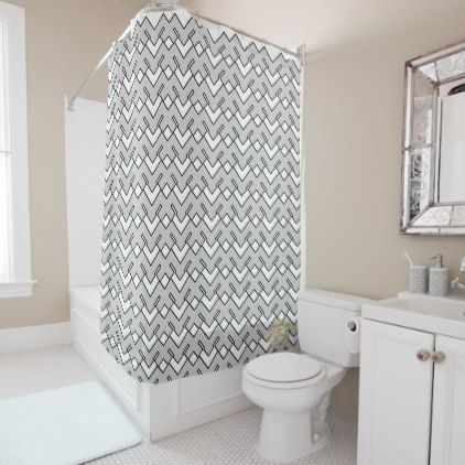 Mangled Gray-White Luxurious Shower Curtain Set | Pinterest | Shower ...