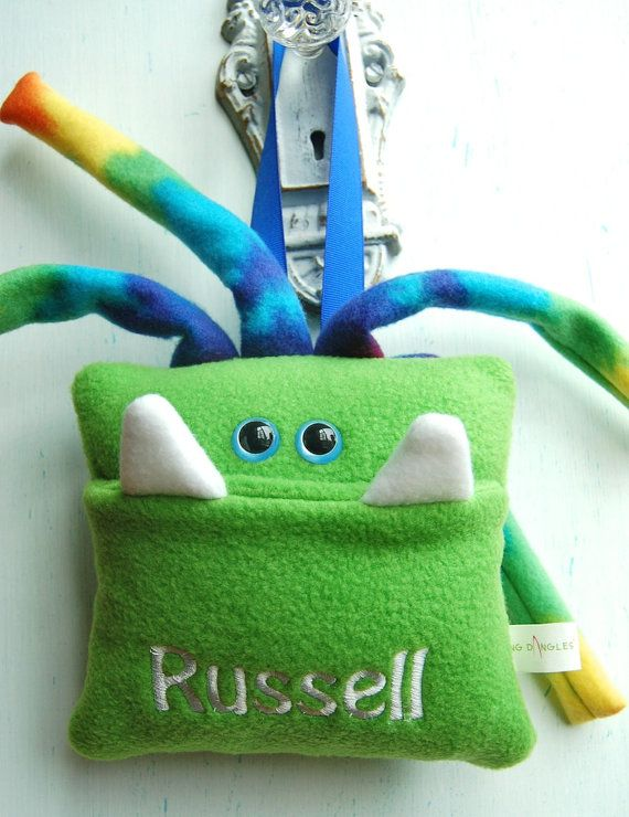 Personalized Tooth Fairy Monster Pillow By Fangdangles On Etsy