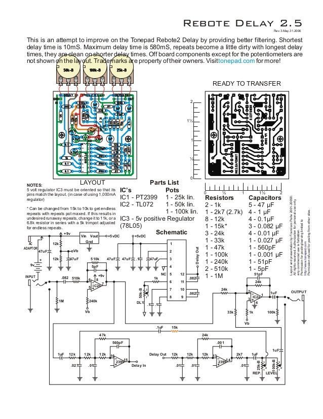Delay Pedal Schematic - Data Wiring Diagram