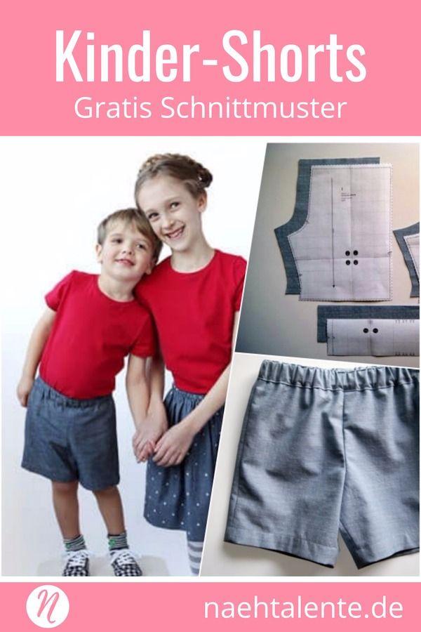 Shorts für Kinder Freebook 6 Monate – 12 Jahre | Nähtalente