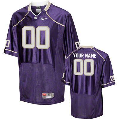 best service 50b01 285d7 Washington Huskies Football Jersey: Customizable Nike Purple ...