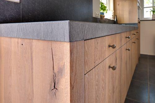 Keuken Eiken Landelijk : Landelijk moderne eiken keuken met zeer exclusieve houten laden en