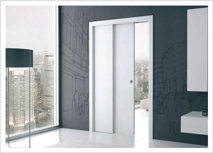 Single Pocket Doors Glass telescopic single - eclisse - sliding door systems | home: doors