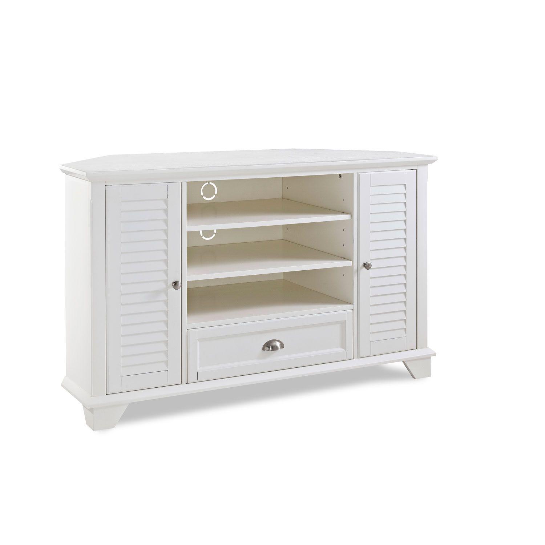 Furniture · Palmetto White 50 Inch Corner Tv Stand Crosley ...