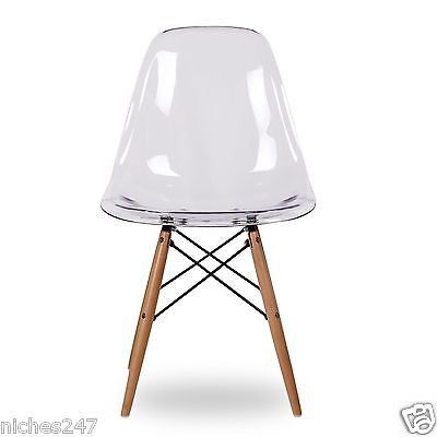 eames style eiffel ghost chairs clear transparent retro dinning x