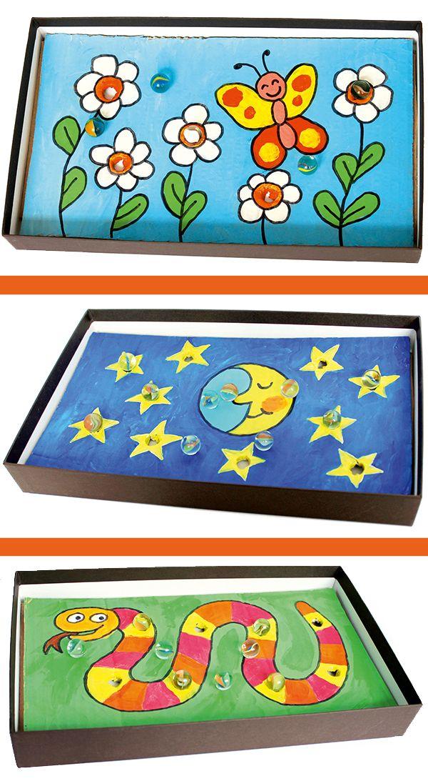 upcycling mit schuhkartons geschicklichkeitsspiel basteln. Black Bedroom Furniture Sets. Home Design Ideas