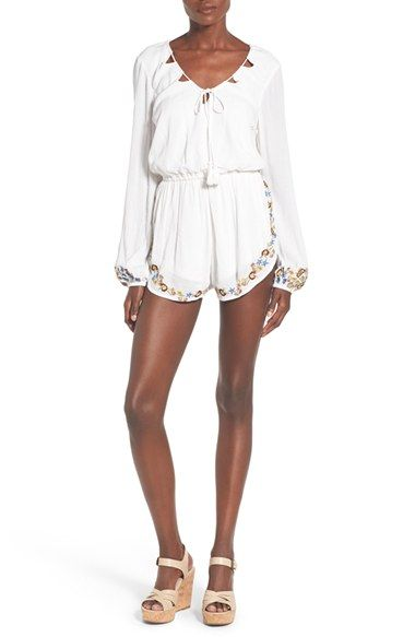 003505138a3a Band of Gypsies white embroidered romper.