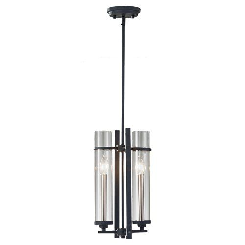 Ethan 4 Light Antique Forged IronBrushed Steel Mini Chandelier Shade