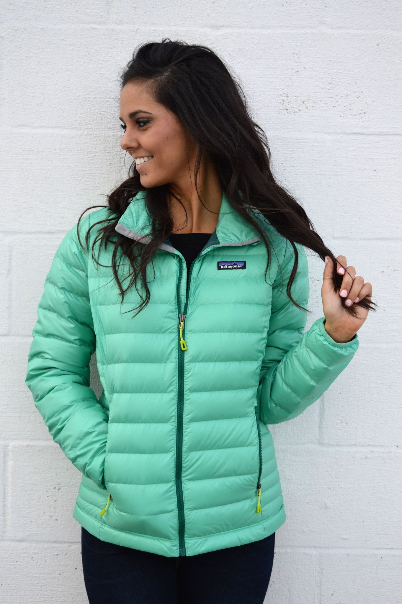 Patagonia Women S Down Sweater Jacket Aqua Stone From