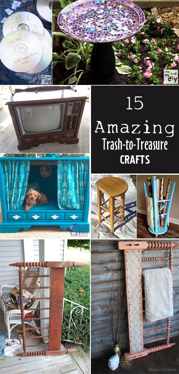 15 Amazing Trash to Treasure Crafts 15 Amazing Trash to Treasure