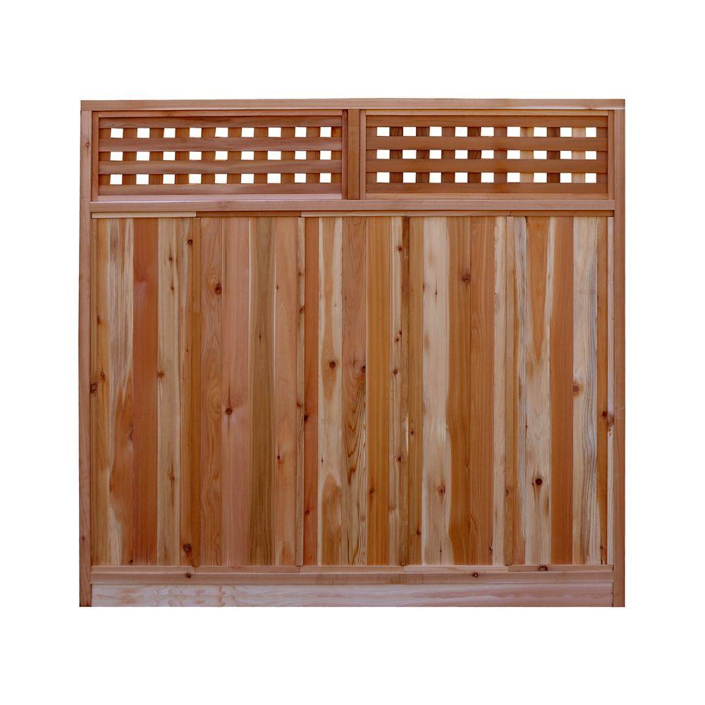 Signature Development 6 Ft H X 6 Ft W Western Red Cedar Checker Lattice Top Fence Panel Kit 6x6chekrtopfkit Fence With Lattice Top Fence Panels Cedar Fence