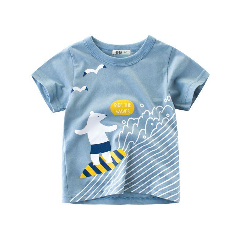 UGFGF-S3 Golden Yellow Honey Cartoon Toddler Baby Long Sleeve Bodysuit Bodysuits