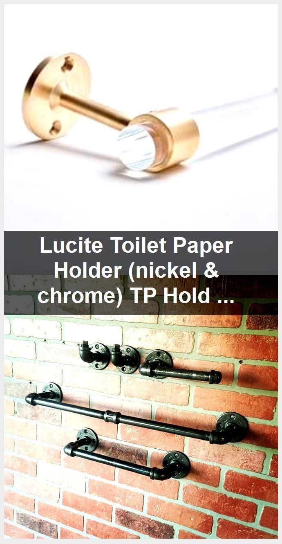 Photo of Lucite Toilet Paper Holder (Nickel & Chrome) TP Holder – Lucite Bathroom Accessories – Lucite …