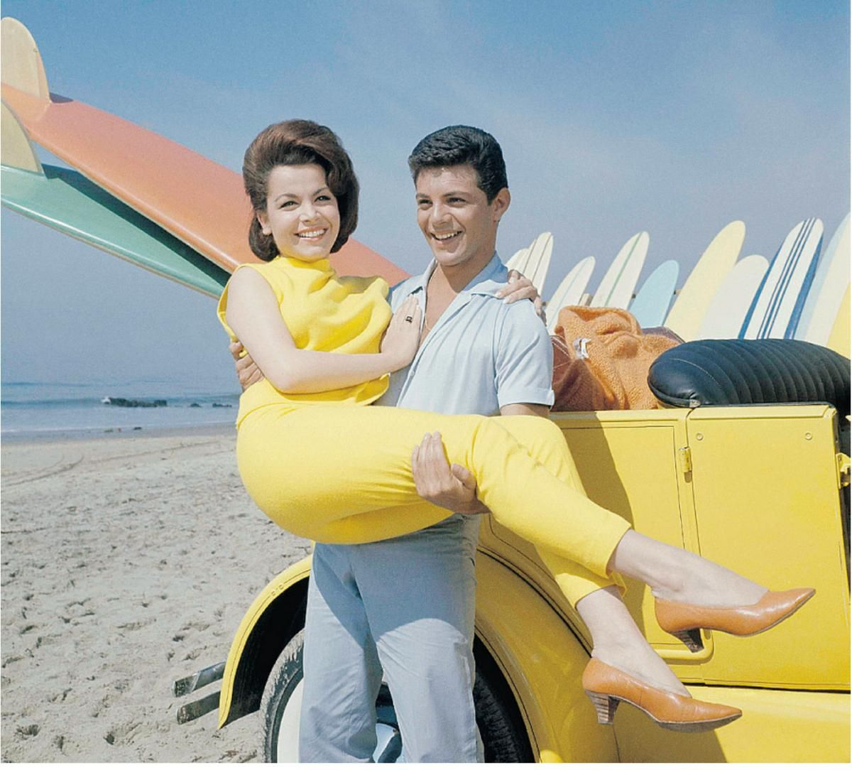 Beach Blanket Date: Annette Funicello And Frankie Avalon