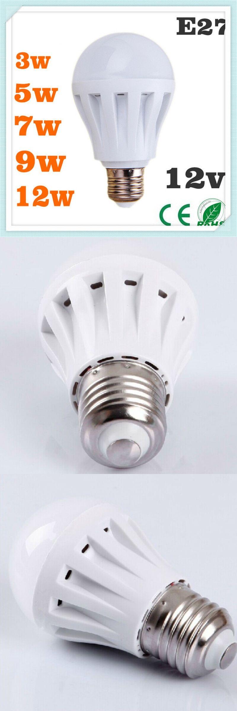 LED Bulb E27 3W 5W 7W 9W 12W LED Spot Light 12V Cold White Warm ...
