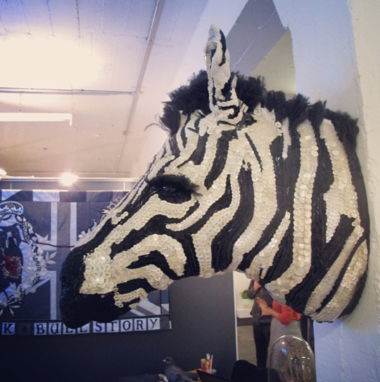 The Crossing Apartments Dc: Textile Taxidermy Zebra By Donya Coward