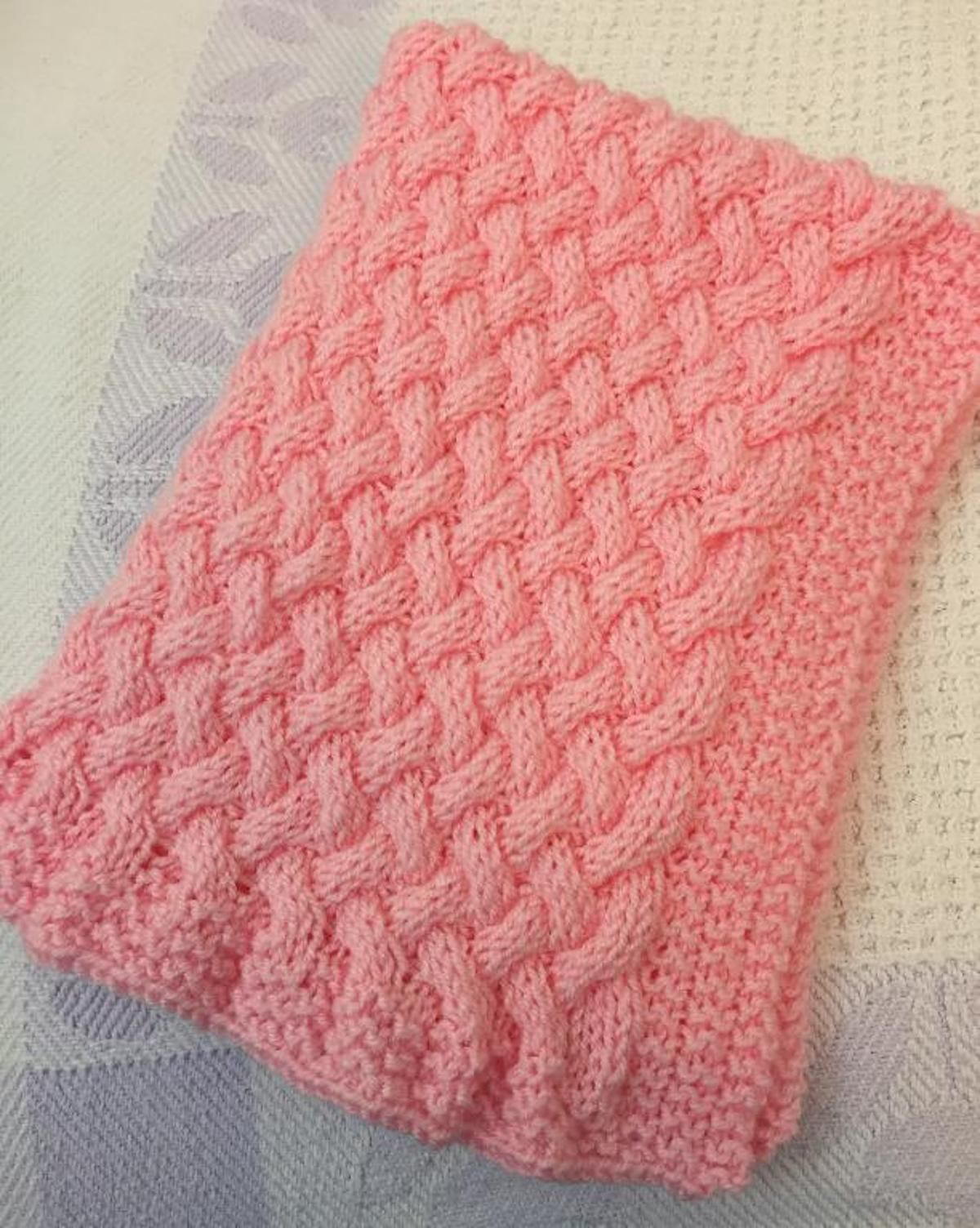 Wicker Basket-Weave Baby Blanket | Craftsy | Baby blanket ...
