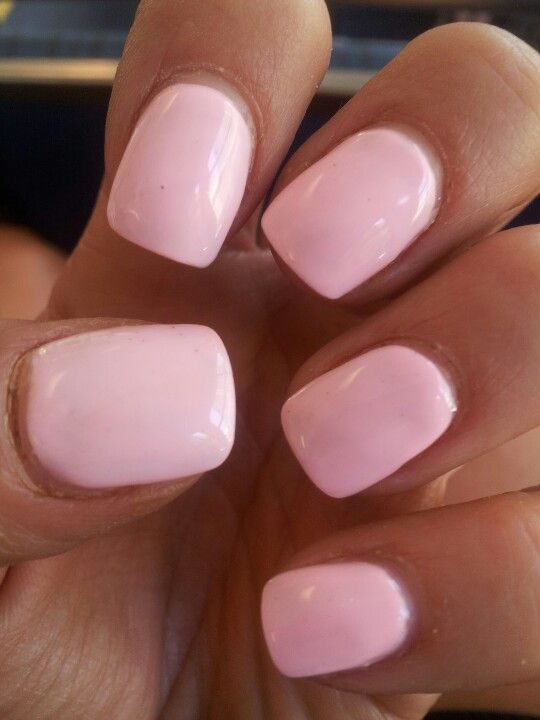 Baby Pink Nails Acrylic Soft Square