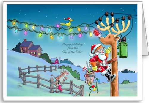 Tnt Rudy Transformed Christmas Cards For Electrician