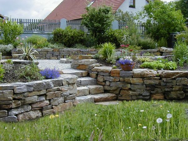 Stainzer Gneis Natursteinmauer Garten Pinterest - steinmauer im garten
