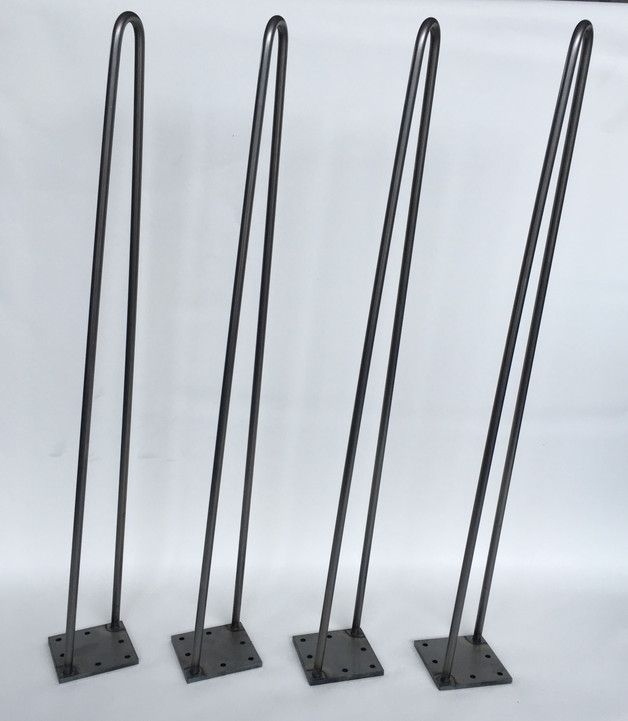 Esstische 4 st ck tischbeine hairpin leg 72 cm stahl st t ein designerst ck von - Dawanda hairpin legs ...