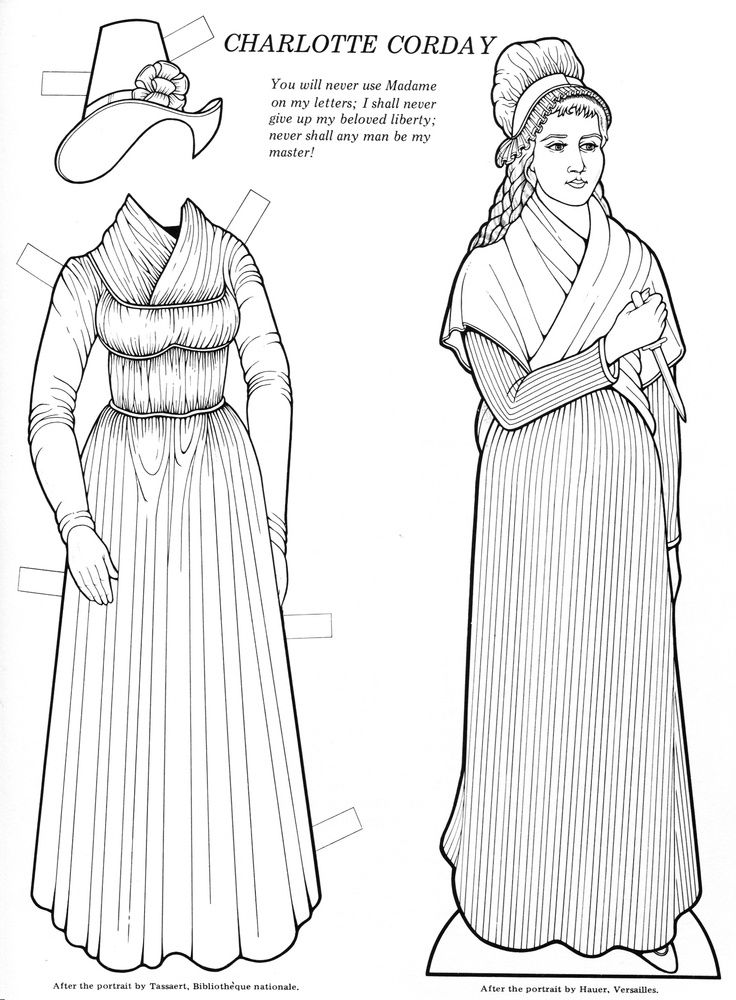 Charlotte Corday From Infamous Women Paper Dolls Bellerophon 2001 Paper Dolls Paper People Fashion History