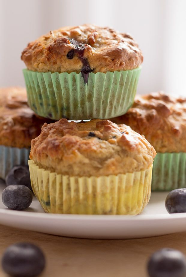 These are my delicious, low calorie, burst in the mouth healthier, banana blueberry breakfast muffins. Not only for breakfast but they're ideal as little portable snacks too!