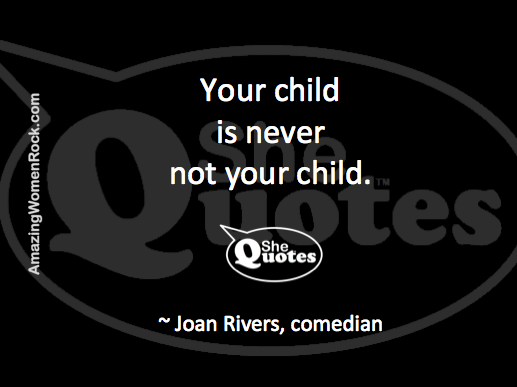 Joan Rivers on motherhood
