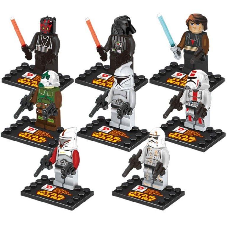 Figurki Klocki Ludziki Star Wars 8 Sztuk Lego Star Wars Sets Star Wars Kids Star Wars Figures