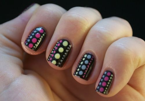 Polka Dot Nail Designs: Cute And Fun Nail Art Design For You : Cute Polka Dots  Nail Designs Amazing Color Combination For Short Nails - Easy Nail Designs For Short Nails! Designing Your Nails Is SO EASY