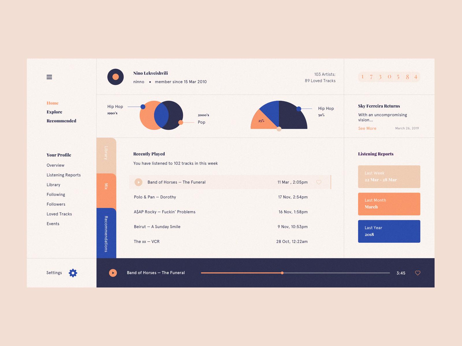 Dribbble Music1 Png By Nino Lekveishvili Web Development Design Interactive Design Music App