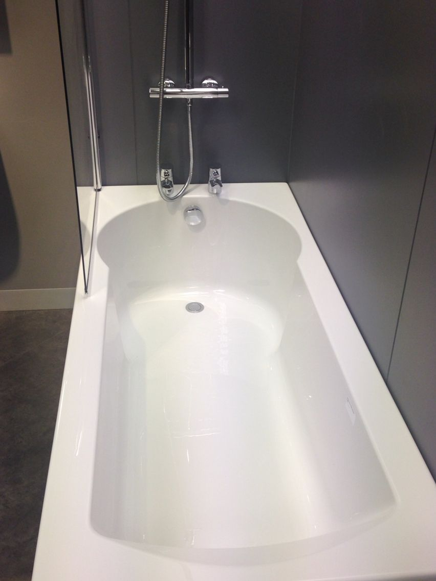 Homebase Bathrooms Sale - Butter mere 1700 straight shower bath incorporating a straight bath shape with