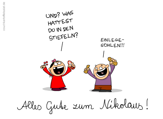 0228 Nikolaus Couchkartoffelsalat Lustige Spruche Witzige Spruche Urkomische Zitate