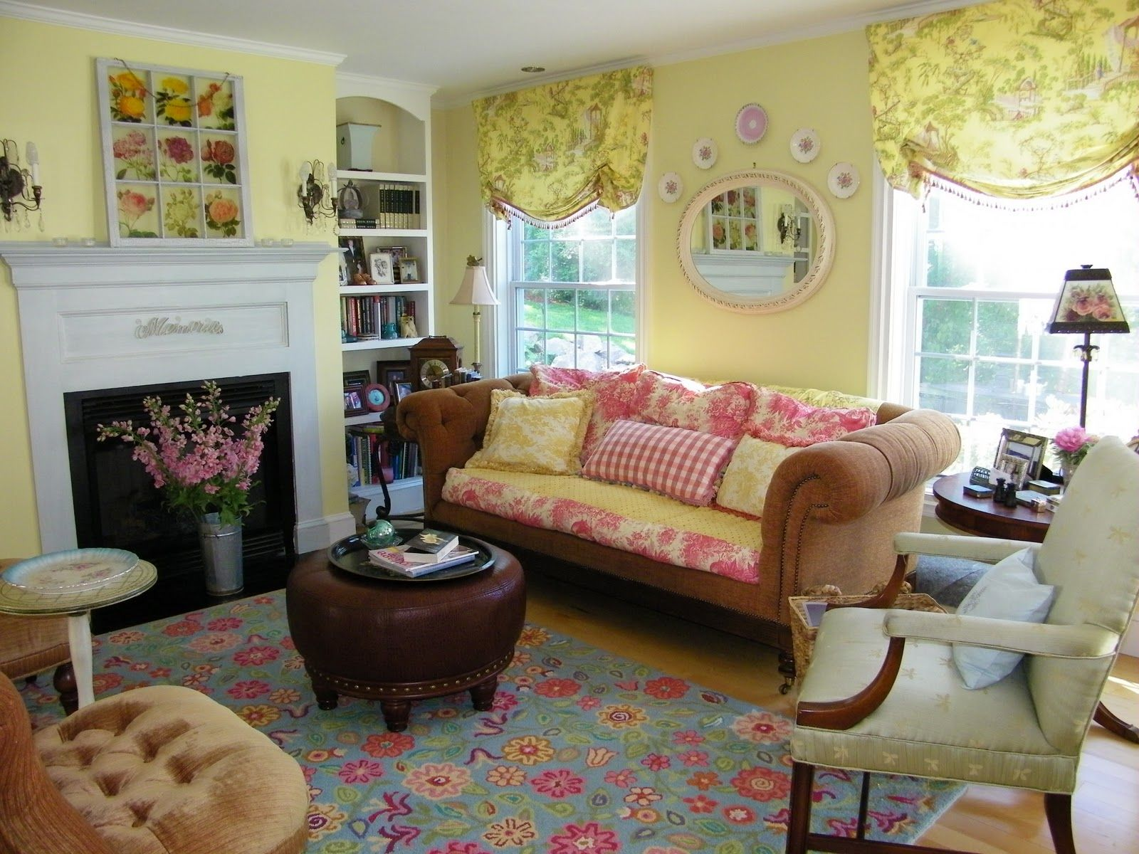 enchanting ideas sofa country livings yellow white room pin french cottage living