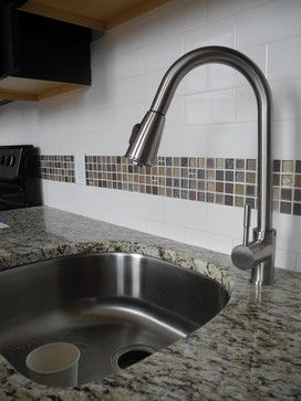 Leaf Motif Tile Kitchen Design Ideas, Pictures, Remodel and Decor