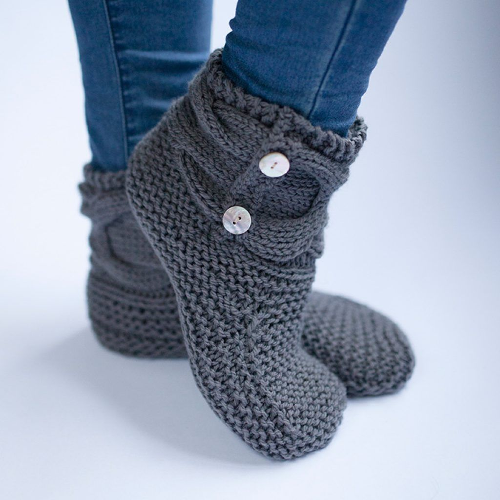 The woven simple knit slipper booties nails pinterest slipper socks and boots knitting patterns bankloansurffo Image collections